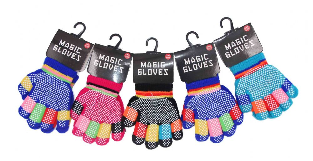 Girls gripper mix colourfull gloves GL702193